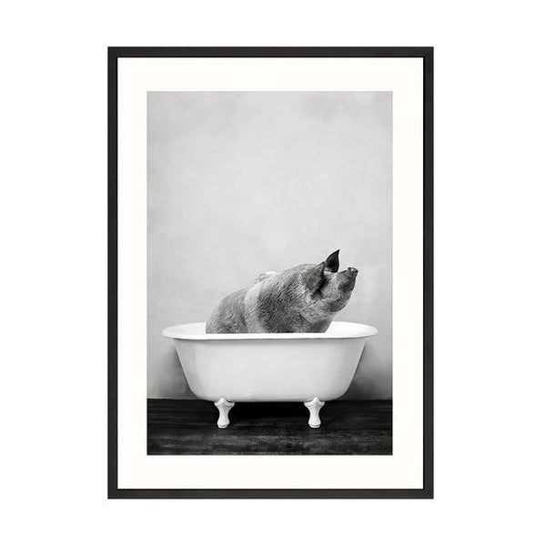 Baby Animal in Bathtub Wall Art Collection Baby Animal in Bathtub Wall Art Collection - AVAOASIS 20x30cm / pork