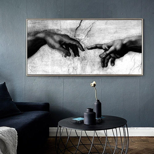 Luxury Black & White Canvas Painting Wall Art Luxury Black & White Canvas Painting Wall Art - AVAOASIS