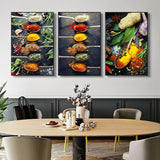 Kitchen Theme Mix Herb and Spices Canvas Painting Wall Art Kitchen Theme Mix Herb and Spices Canvas Painting Wall Art - AVAOASISCanvas