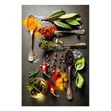 Kitchen Theme Mix Herb and Spices Canvas Painting Wall Art Kitchen Theme Mix Herb and Spices Canvas Painting Wall Art - AVAOASISCanvas 70X100cm / DM715-10
