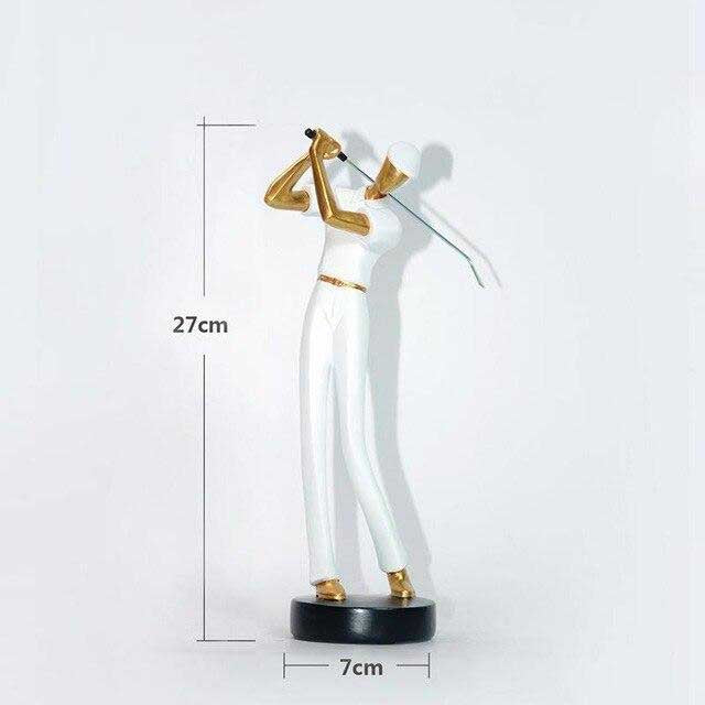 MODERN SWINGING GOLFER FIGURINES MODERN SWINGING GOLFER FIGURINES - AVAOASIS White