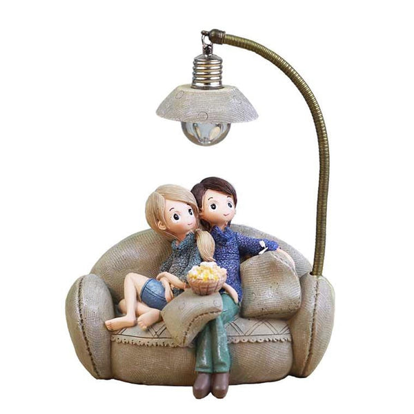 Resin Crafts Couple Night Light LED Lamp Resin Crafts Couple Night Light LED Lamp - AVAOASIS