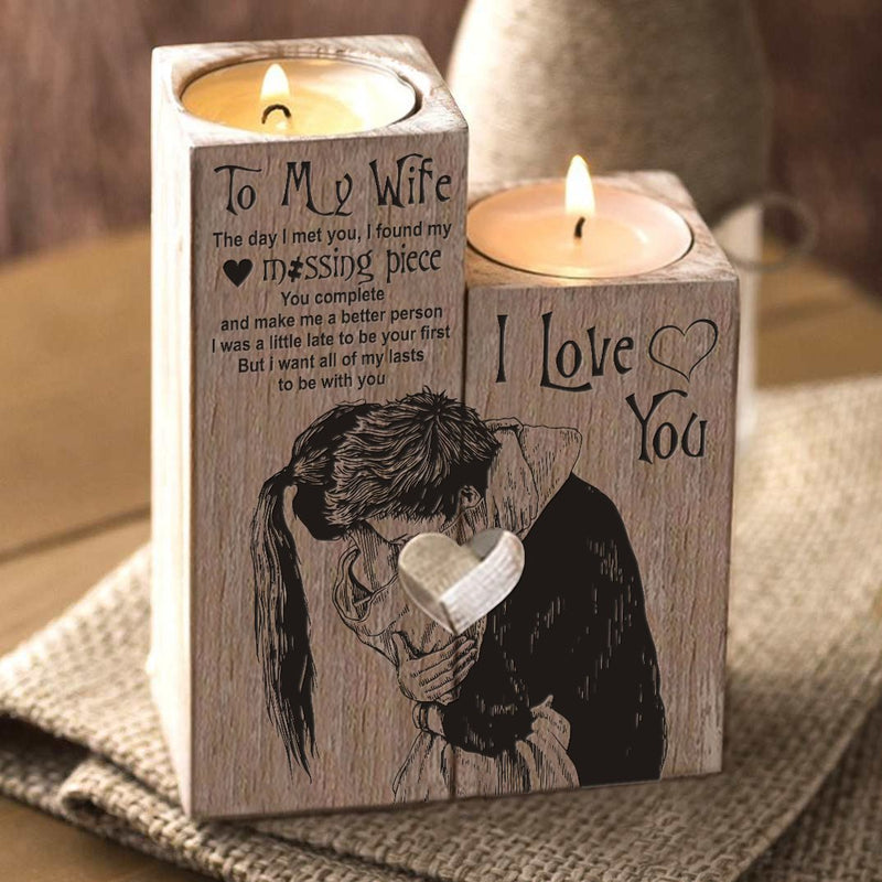 To My Wife Candle Holder Handmade To My Wife Candle Holder Handmade - AVAOASIS