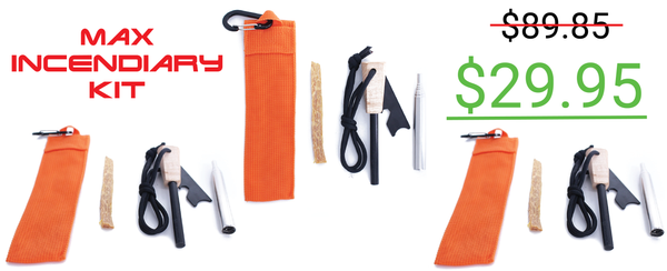 3 Pack - Max Incendiary Kit - Fire Starting Kit