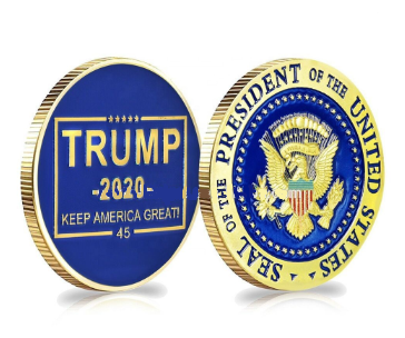 Limited Edition Gold Plated Trump 2020 Coin