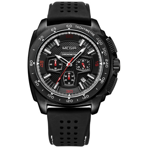 Silicone with quartz men's watch