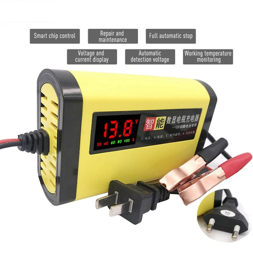 New 12V 2A Car Auto Battery Charger LED Display