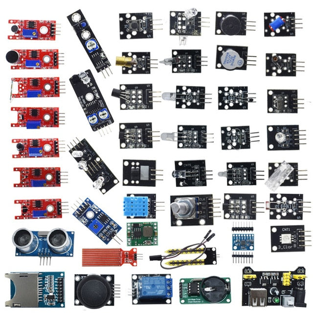 For arduino 45 in 1 Sensors Modules Starter Kit better than 37in1 sensor kit 37 in 1 Sensor Kit UNO R3 MEGA2560