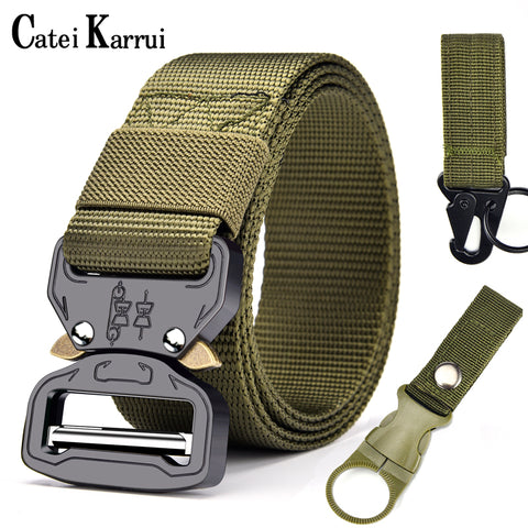 Outdoor Hunting Metal tactical belts for men Multi-function buckle