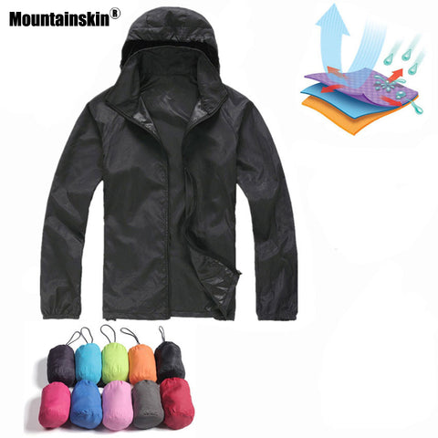 New Men's Quick Dry Skin Jackets with head cape