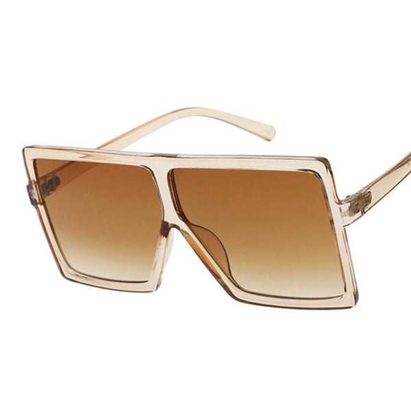 Square Women Sunglasses Clear Lens UV400