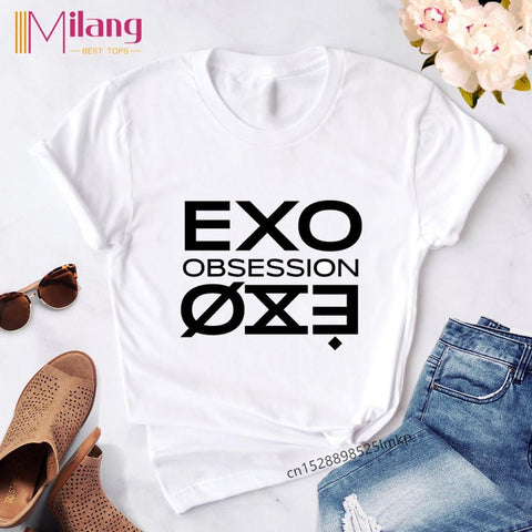 KPOP EXO Stylish Printed Tshirts