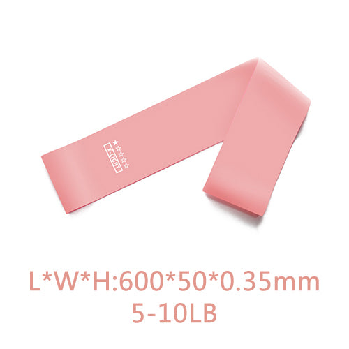 5 Pcs Training Pilates Sport Rubber Fitness Bands