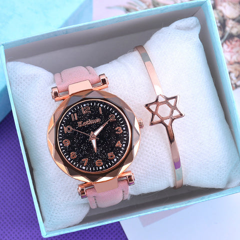 Casual Women Starry Sky Quartz Wristwatch