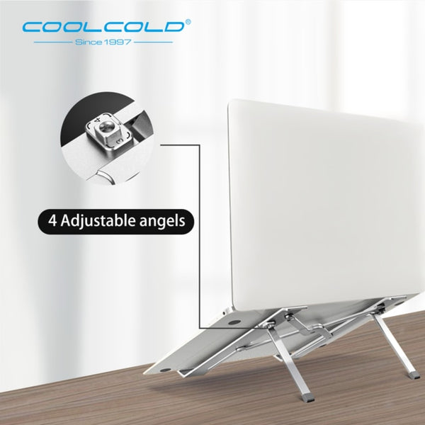 "Aluminum Laptop Stand - Adjustable Height, Portable, Ergonomic 17"" in for MacBook Air pro"