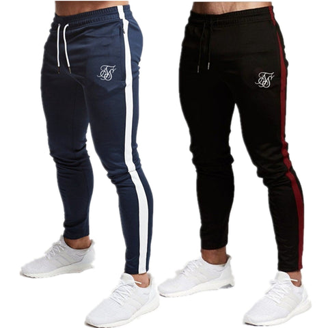 Men's High quality Fitness Silk pants