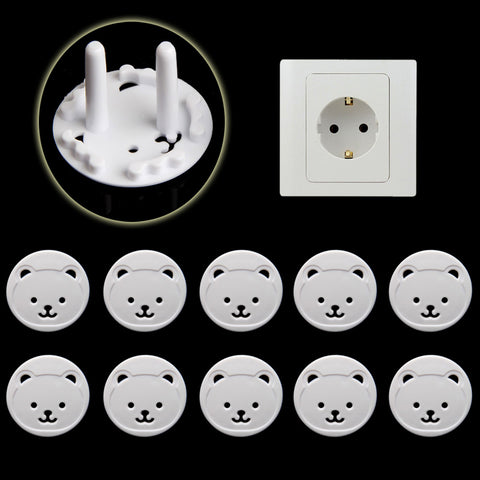 10/20  Pcs Bear EU Power Socket Safety Cover