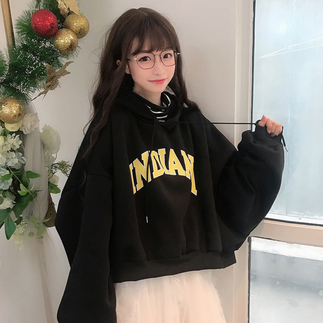 Thick Plus Velvet Women Hoodies
