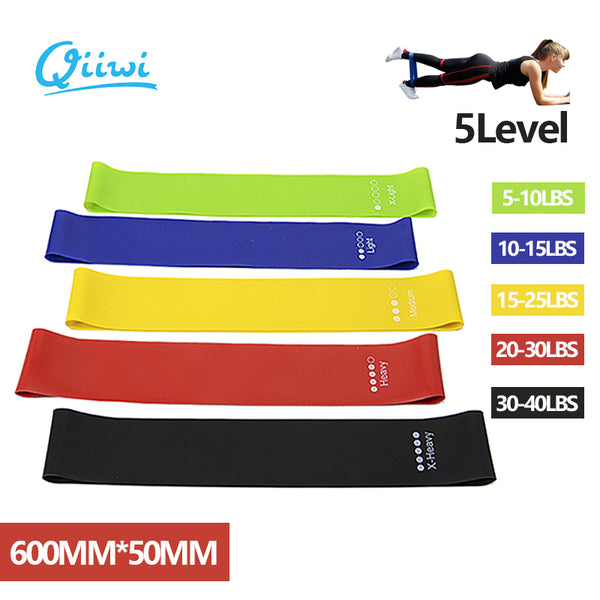 Dr.Qiiwi Resistance Band Elastic Bands for Fitness Training Workout Rubber Loop for Sports Yoga Pilates Crossfit Stretching
