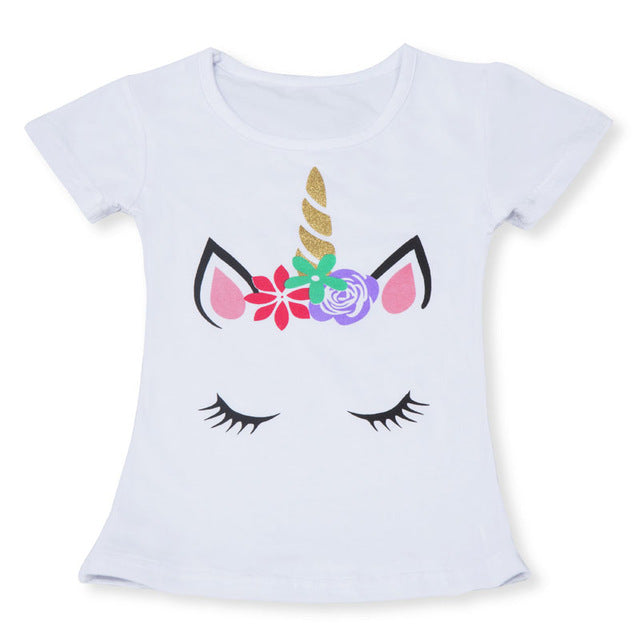 2020 Summer Fashion Childrens Unisex Unicorn T-shirt