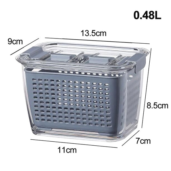 0.48L Fresh Produce Vegetable Fruit Storage Containers