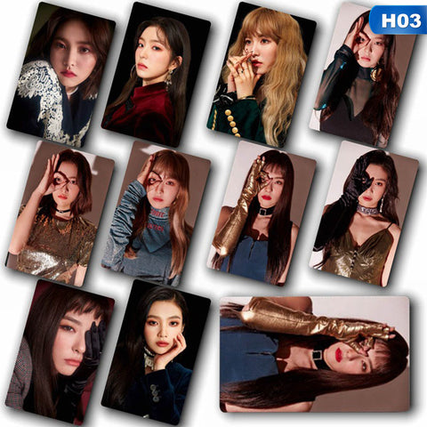 10 Pcs/set Red Velvet LOMO Photo Cards Set