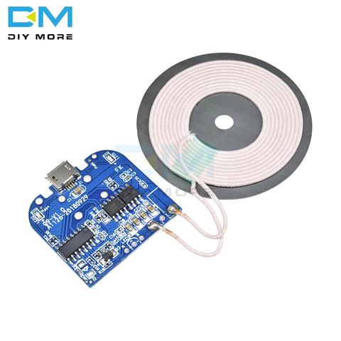 Wireless Charger Module For Micro USB Mobile Phone Charger Board DC 5V 2A 10W DIY