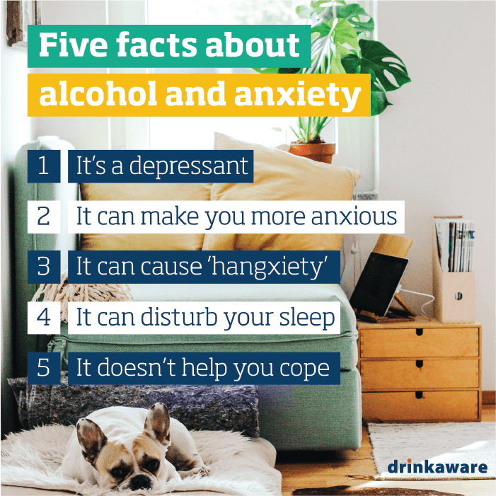 Five facts about alcohol and anxiety | free social media assets