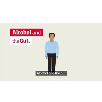 Alcohol and gut health video - male