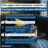 Five signs that isolation could be impacting your drinking | free social media asset