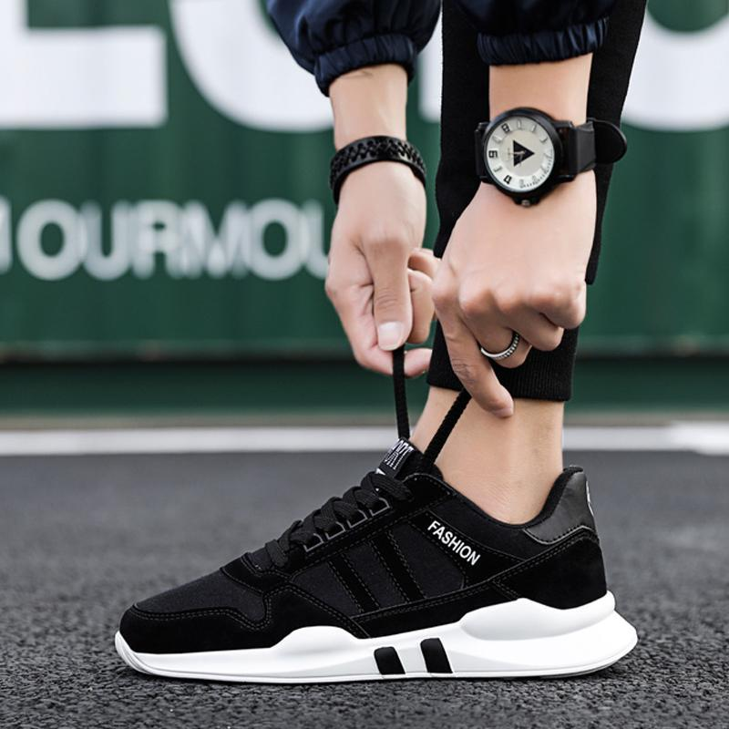 Cloth Lace Up Men's Sneakers