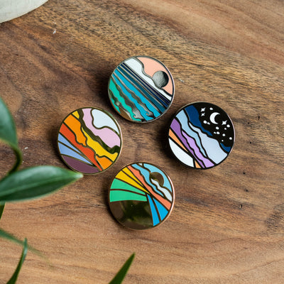 Scapes Pins Set of 4