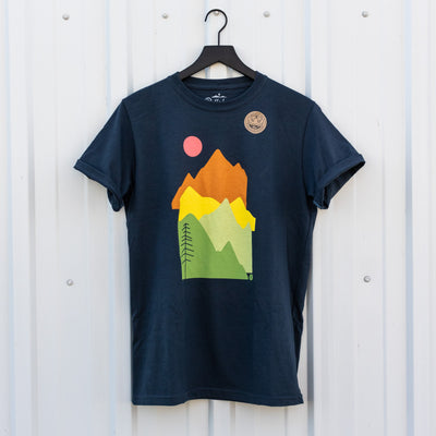 Stacked Peaks T-Shirt Small