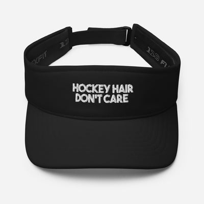 Hockey Hair Don't Care Black Visor