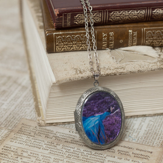 """Listen to the Colour of your Dreams"" Locket Necklace"