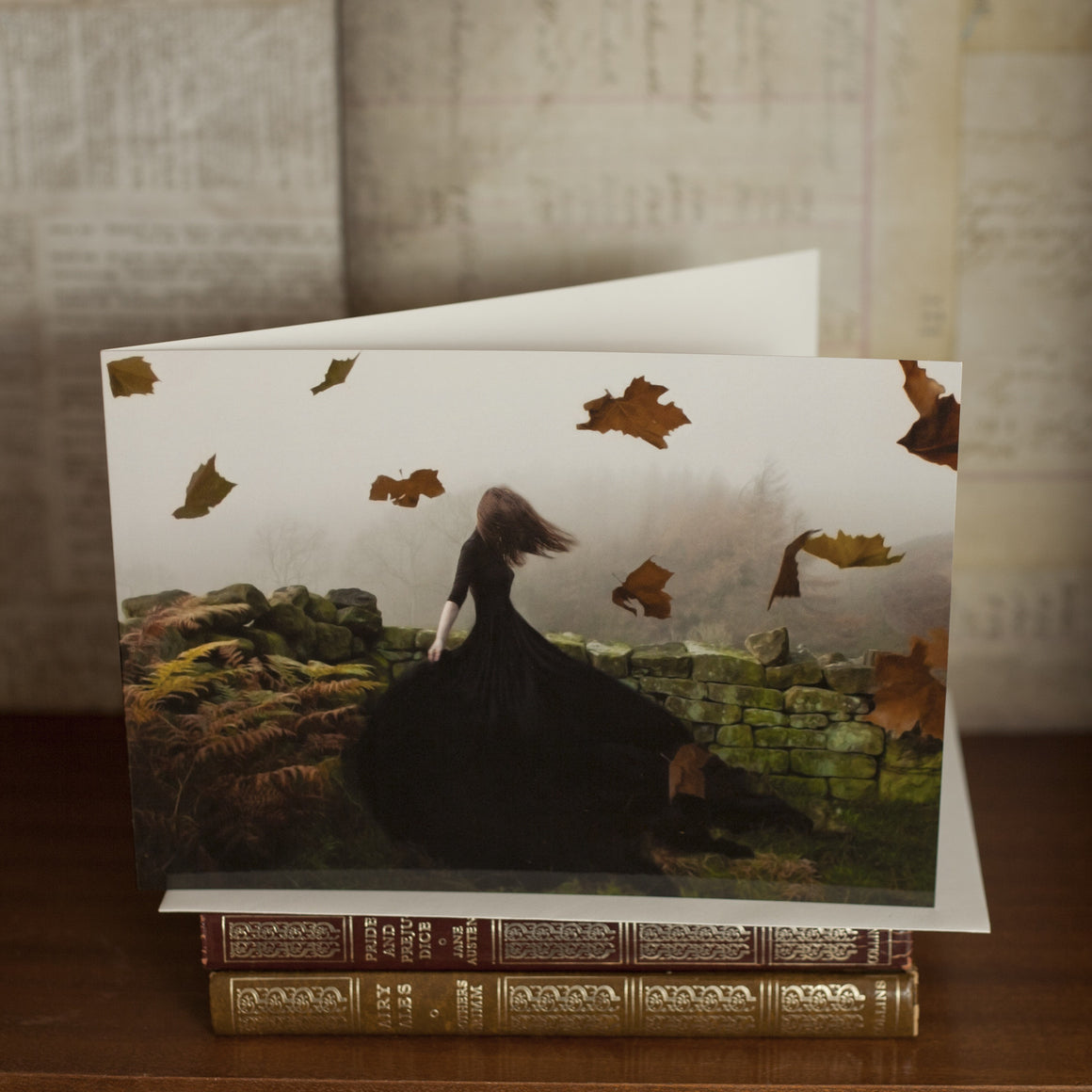 """Like Ghosts from an Enchanter Fleeing"" Greetings Card"