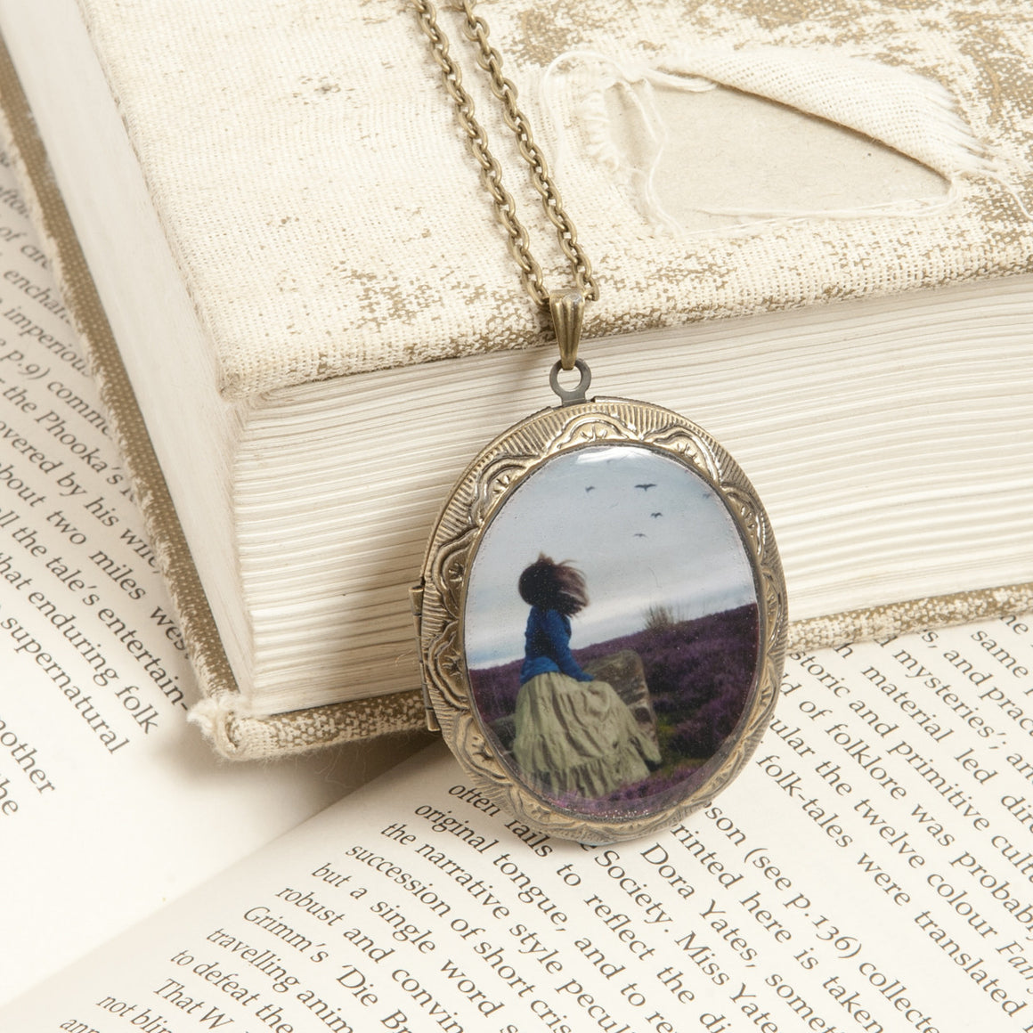 """The End of all our Exploring"" Locket Necklace"