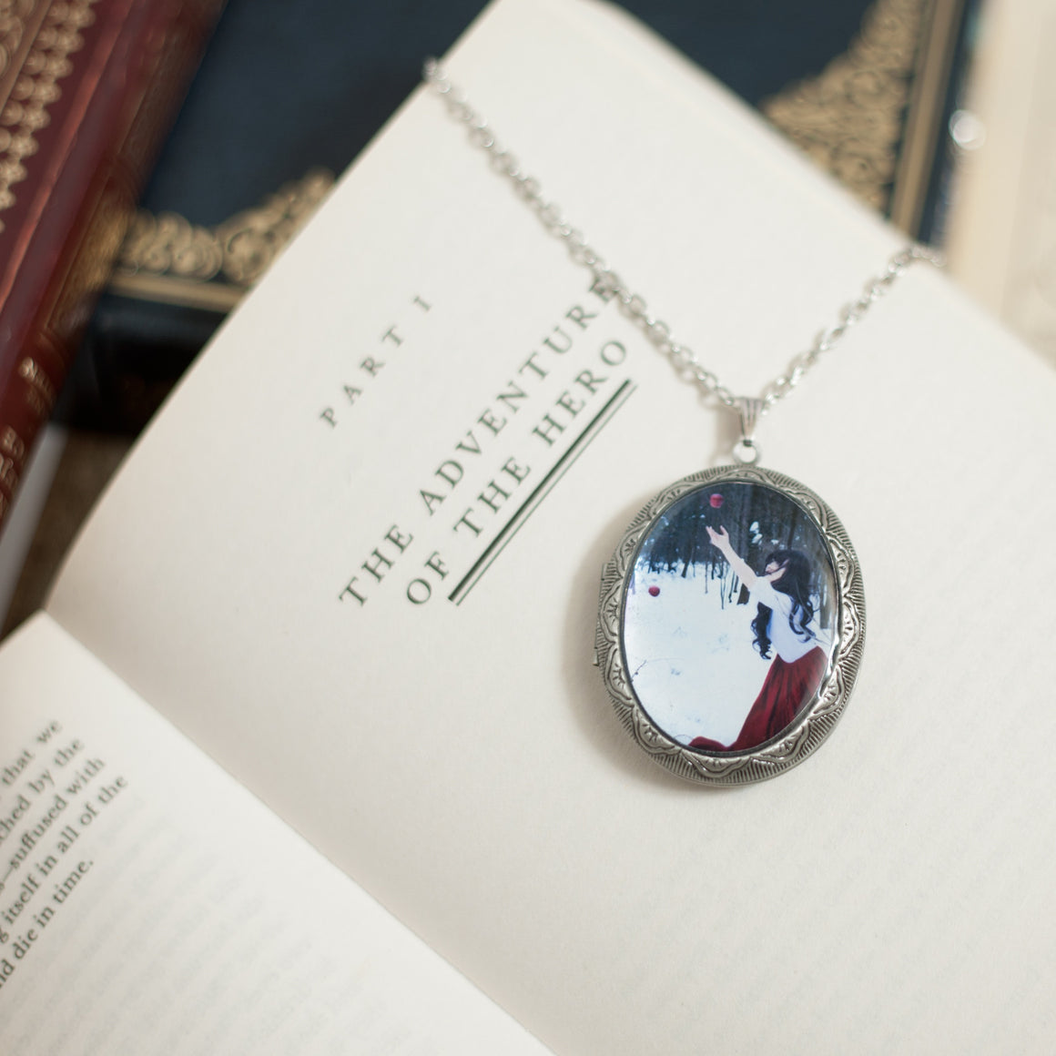 """Fallen"" Locket Necklace"
