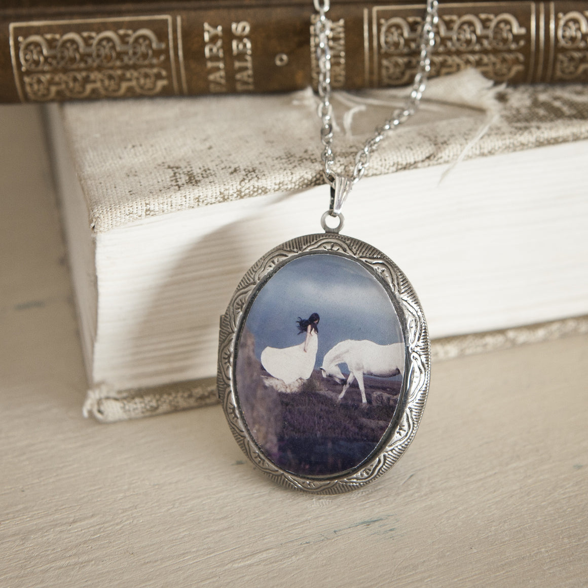 """A Hundred Silent Ways"" Locket Necklace"