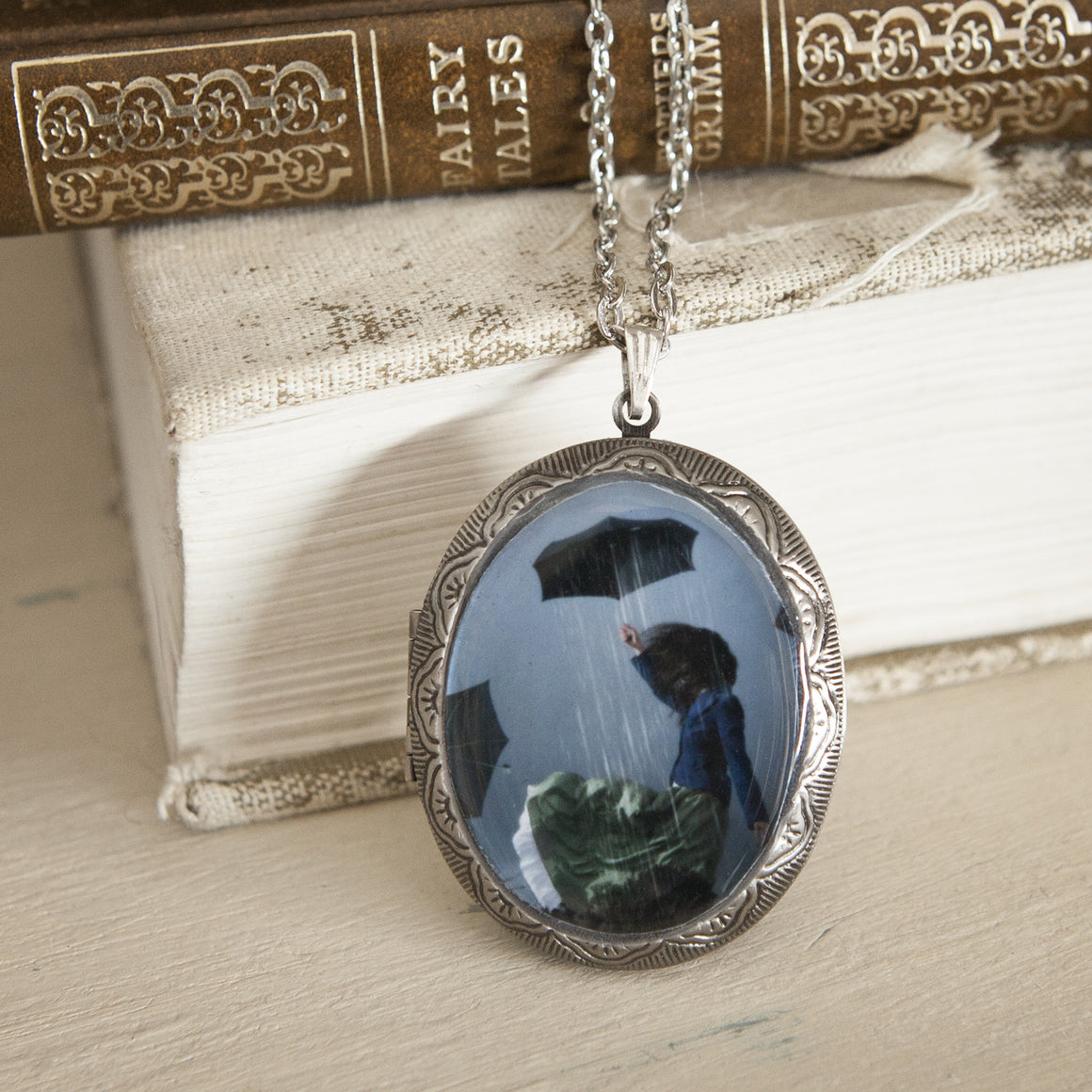 """Into Each Life"" Locket Necklace"
