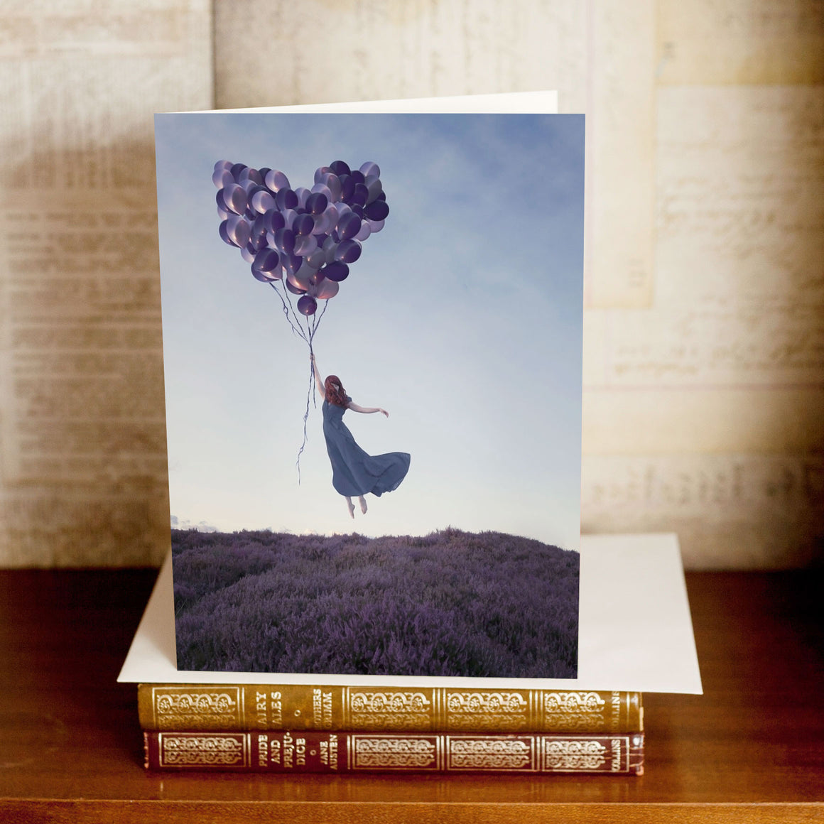 """The Sky was Good for Flying"" Greetings Card"