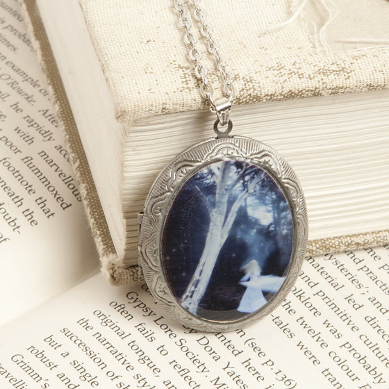 """A Time for the Evening Under Starlight"" Locket Necklace"