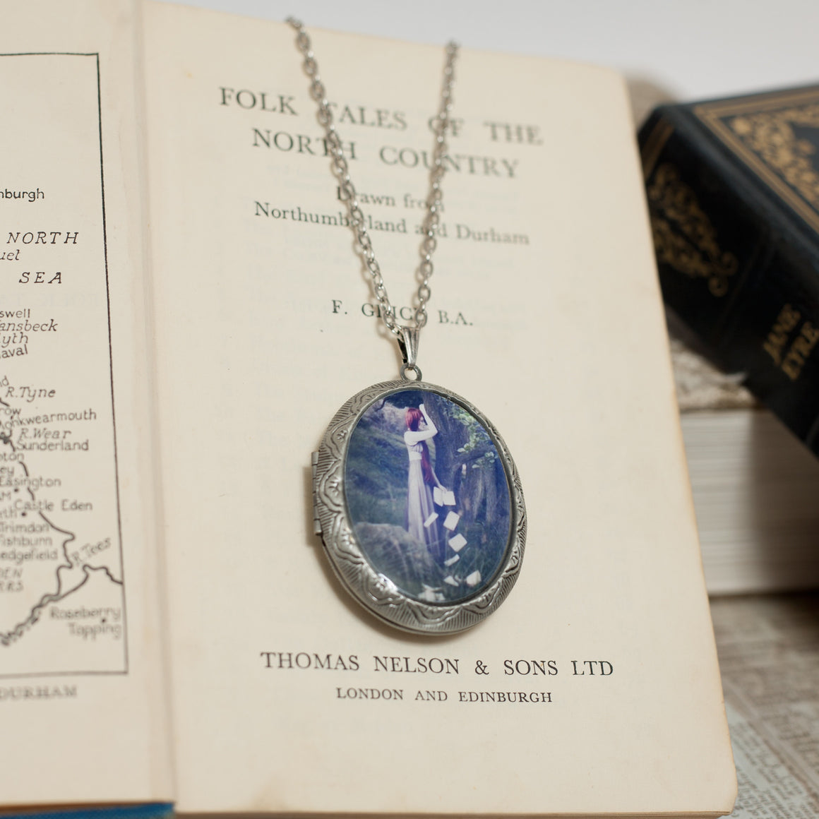 """To be all made of sighs and tears"" Locket Necklace"