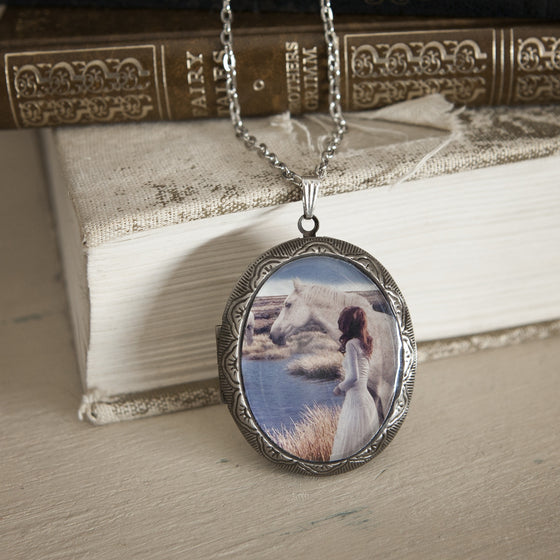 """The Word and the Whisperer"" Locket Necklace"