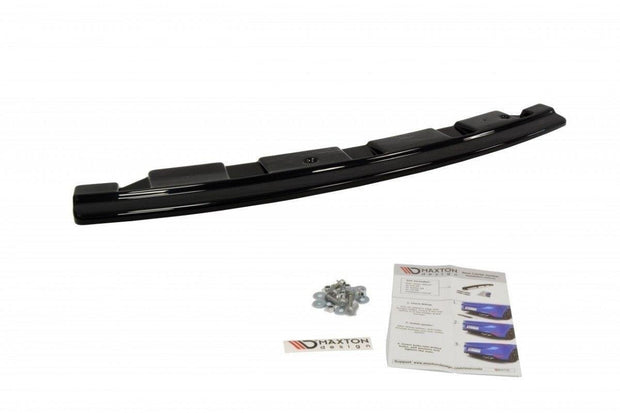 CENTRAL REAR SPLITTER BMW 5 F11 M-PACK - WITHOUT VERTICAL BARS (FITS TWO DOUBLE EXHAUST ENDS)