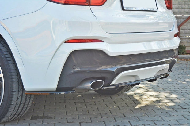 CENTRAL REAR SPLITTER BMW X4 M-PACK (WITH A VERTICAL BAR)