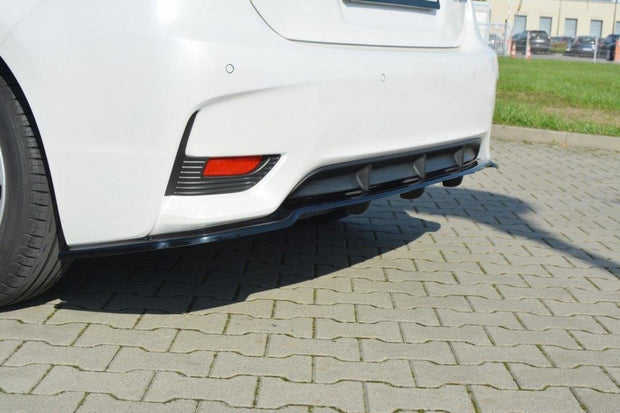 CENTRAL REAR SPLITTER LEXUS CT MK1 FACELIFT (WITH VERTICAL BARS)