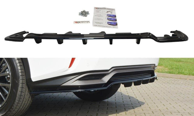 CENTRAL REAR SPLITTER LEXUS RX MK4 H (WITH VERTICAL BARS)