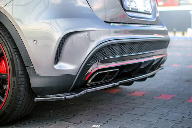CENTRAL REAR SPLITTER (WITH VERTICAL BARS) MERCEDES-BENZ GLA 45 AMG SUV (X156) PREFACE