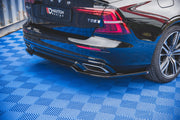 CENTRAL REAR SPLITTER VOLVO S60 R-DESIGN MK3